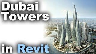 Dubai Towers in Revit tutorial