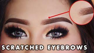 SCRATCHED EYEBROWS TUTORIAL   ALIS CAKAR MACAN (Indo)