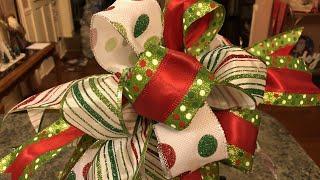 Christmas Funky Bow Tutorial 2018