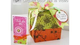 Atelier Scrapbooking Tutoriel Création Boîte Surprise Technique Français