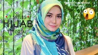 7 STYLES|| MOST SIMPLE|| DAILY WEAR|| HANGOUT|| HIJAB SQUARE TUTORIAL||⚘⚘