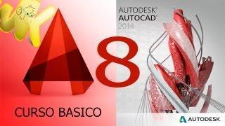 AutoCAD 2014, Tutorial Lista De Comandos, Curso Básico Español Capitulo 8