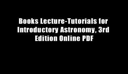 Books Lecture-Tutorials for Introductory Astronomy, 3rd Edition Online PDF