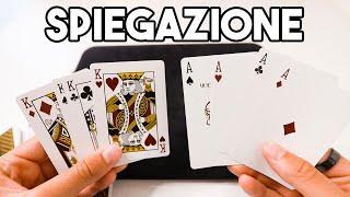 SPIEGAZIONE MAGIA TELETRASPORTO CON LE CARTE (facile) / Tutorial
