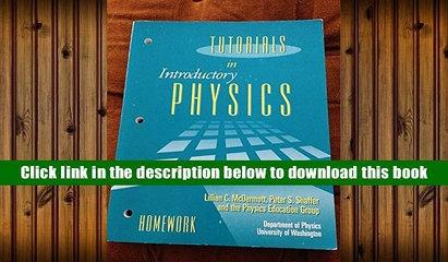 PDF [FREE] DOWNLOAD  Tutorials in Introductory Physics: Homework [DOWNLOAD] ONLINE