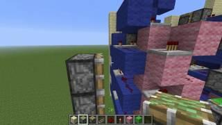 [Danish] Minecraft Redstone Tutorial! Piston Elevator