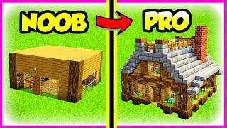 Minecraft NOOB to PRO Survival House Tutorial (How to Build Ideas)