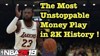 NBA 2K19 UNSTOPPABLE Money Plays Tutorial MyTeam Unlimited + Online Overpowered Playbook #10