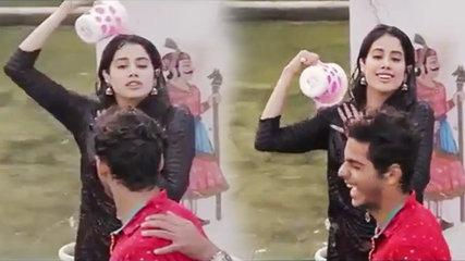 Dhadak: Jhanvi Kapoor's FUNNY moment during 'Pehli Baar' song making video goes viral | FilmiBeat