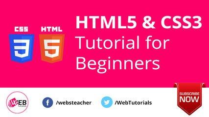 HTML and CSS Tutorial for Beginners