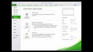 تعليم اكسيل 2010 - شرح واجهة البرنامج Learn Excel 2010