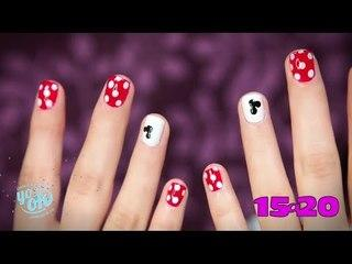 Tutorial: Uñas con diseño de Mickey Mouse