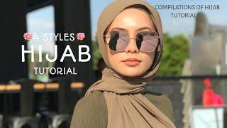 4 STYLES HIJAB SHAWL TUTORIAL CANTIK & AYU !