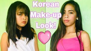 """WE TRIED TO KOREAN MAKE-UP LOOK """"(KPOP TUTORIAL LOOK)"""