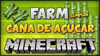 ✔ Minecraft: FARM DE CANA DE AÇUCAR (100% AUTOMÁTICA) - TUTORIAL 1.12