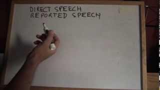 INGLÉS. REPORTED SPEECH. Estilo Directo-indirecto. Inglés Para Hablantes De Español. Tutorial