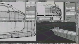 How To Model A Car In Blender 2.50 TUTORIAL Italian Version, Part 2