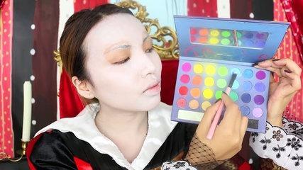 05:10 Tim burton 'Queen of Hearts' Makeup Tutorial ♥♥♥