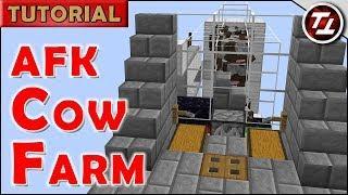 Minecraft Tutorial: AFK Cow Farm - Server Friendly!