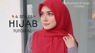 4 STYLES|| LATEST|| MOST RARE & STUNNING|| HIJAB SQUARE TUTORIAL || SYARIAH COMPLIANCE !||⚘⚘