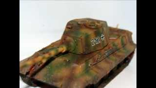 Tiger 2 1/72 - First Time Airbrushing
