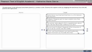 PTE Academic English Test Tutorial - Reading 3