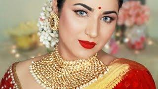AISHWARYA RAI BACHCHAN INSPIRED LOOK | INDIAN WEDDING GUEST MAKEUP TUTORIAL