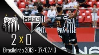 Os Gols De São Paulo 0 X 2 Santos - Campeonato Brasileiro 2013