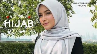 4 STYLES || MOST GORGEOUS|| HIJAB SQUARE TUTORIAL|| LATEST|| HANGOUT|| KENDURI||