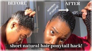 Easy HIGH PONYTAIL on Short Natural Hair Tutorial | Nia Hope
