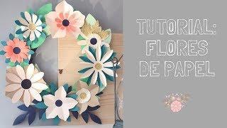 Tutorial cómo hacer flores de papel e ideas para decorar con flores