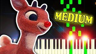 RUDOLPH THE RED-NOSED REINDEER - Piano Tutorial
