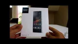 Unboxing Brasileiro - Sony Xperia Z C6603 - Abrindo A Caixa SONY XPERIA Z Brasil