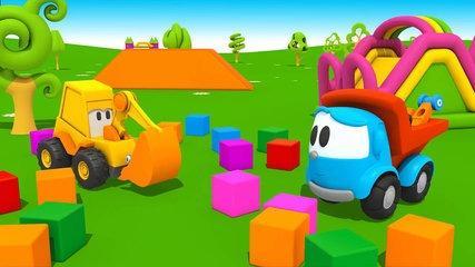 Funny #CARTOONS for kids   Leo the Truck and Excavator Max   Full Episodes #Car Cartoons-ob0WmGQjy8I