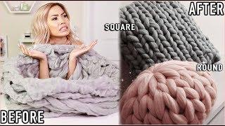 I TRIED TO FOLLOW A CHUNKY KNIT PILLOW TUTORIAL | NOT AS EASY AS IT LOOKS! | SAAAMMAGE