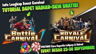 TUTORIAL DAPET SEMUA HADIAH DAN SKIN GRATIS! EVENT KARNIVAL! Garena Free Fire