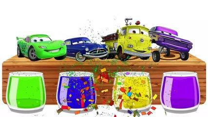 Disney Cars 3 Mcqueen Bathing Colors FUNNY Learn Colors With cars 3 Mcqueen Fin