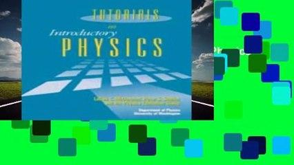 Full E-book  Tutorials in Introductory Physics  Review