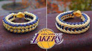 How To Make an L.A. Lakers Jagged Ladder Paracord Bracelet Tutorial