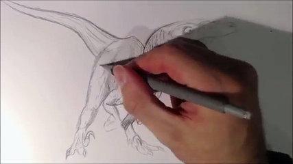 Azul Sorteo cómo jurásico funcionamiento el para Mundo Tutorial velociraptor