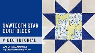Sawtooth quilt block - Mysteries Down Under quilt - video tutorial