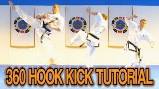 Taekwondo 360 Hook Kick Tutorial (Tornado Set)   GNT How to
