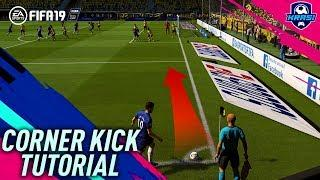 FIFA 19 CORNER KICK TUTORIAL - HOW TO SCORE EASY GOALS - MOST EFFECTIVE CORNER KICK in FIFA 19