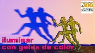 Tutorial de iluminación fotográfica con geles de color