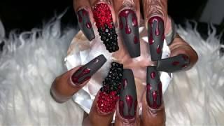 Acrylic Nails Tutorial | Halloween Nails | Drip Nails