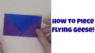 How to Piece Flying Geese - Quilting Basics for Beginners Tutorial with Leah Day