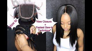 HOW TO DO: Full Sew-in WEAVE in 10 Minutes –Tutorial + NEW LACE CLOSURE