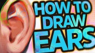 How To Draw and Paint Ears (Tutorial) - Anatomy and Tips