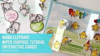 Mama Elephant | Wiper Surprise Tutorial Card Showcase