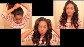 Versatile&Natural Looking Sew In You Can Put In A High Ponytail